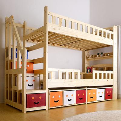 子ども用オススメ二段ベッド2.階段付き二段ベッド-セルフィ