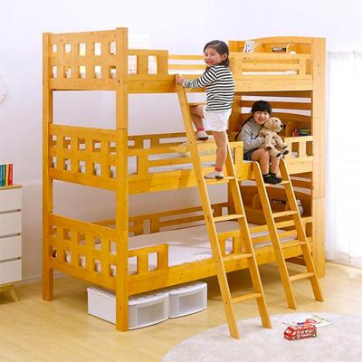 02宮付き 三段ベッド North5(ノース5) Highタイプ 219cm 2色対応