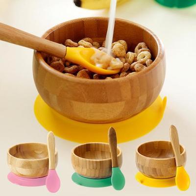 ベビー食器 竹のボウル&スプーンセット Avanchy(アヴァンシー)