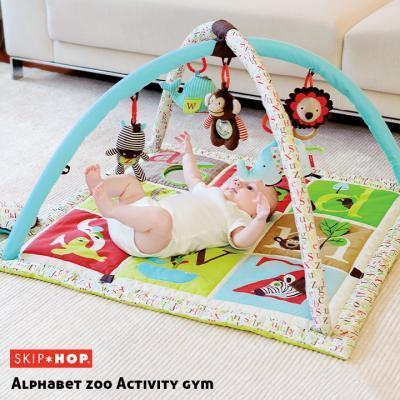 5つのおもちゃ・ピロー付き ベビージム SKIP HOP アルファベットズー・アクティビティジム
