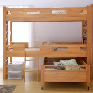 大人も使える3段ベッドのおすすめ3選と3つの特徴
