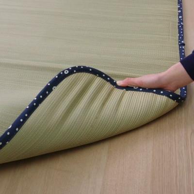 日本製 い草 ごろ寝マット しぐれ無染土マット 枕付 88×180cm