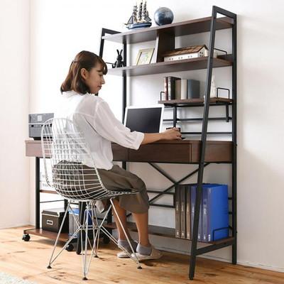 2WAY パソコンデスク WAYBECK(ウェイベック) 上部収納付き 高さ調整 薄型デスク KKS-0014