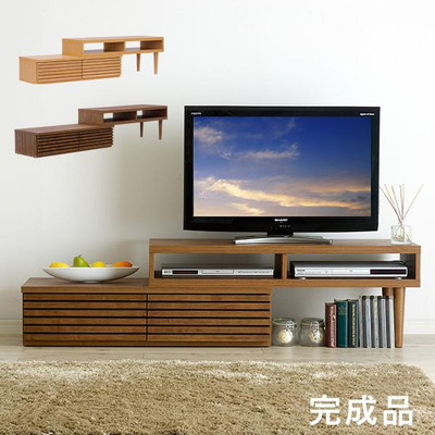 完成品 テレビボード CALF(カーフ) ブラウン ナチュラル