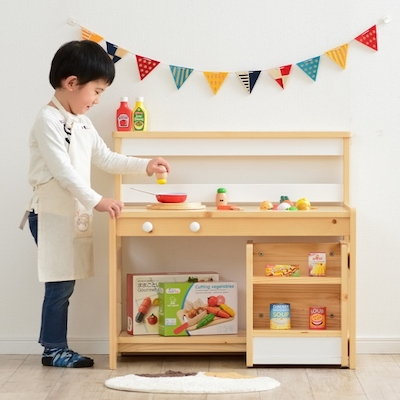 遊べる3way ままごとキッチン Ripple(リップル) 2色対応
