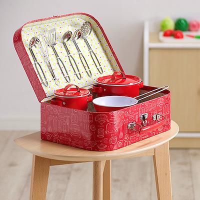 ままごと ヴィンテージキッチンセット 11点+専用ケース付 知育玩具