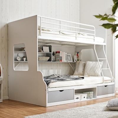 親子二段ベッド シングル+セミダブル Lagos(ラゴス) 4色対応