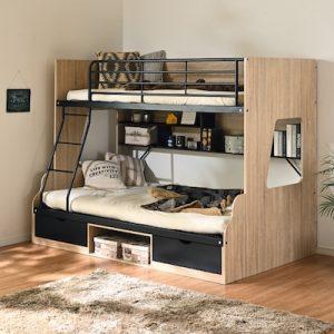 親子で使える二段ベッドが人気!下段が大きいおすすめ商品を紹介
