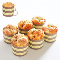 Squeeze cup cake muffin(スクイーズ カップケーキマフィン) 6個セット キーホルダー付き